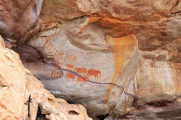 In de voetsporen van de San (Bosjesmannen) Zuid-Afrika